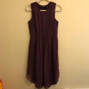 Madewell burgundy silk midi dress